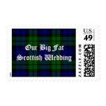 Sello escocés del boda de la tela escocesa de la d