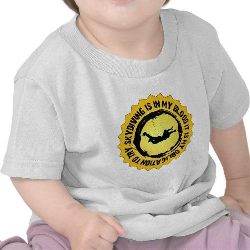 Sello fantástico de Skydiving Camiseta