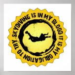 Sello fantástico de Skydiving Posters