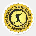 Sello fantástico del béisbol pegatinas redondas