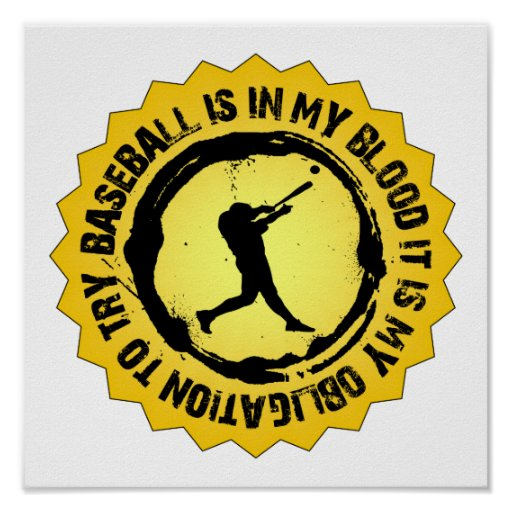 Sello fantástico del béisbol posters