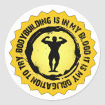 Sello fantástico del Bodybuilding Pegatina Redonda