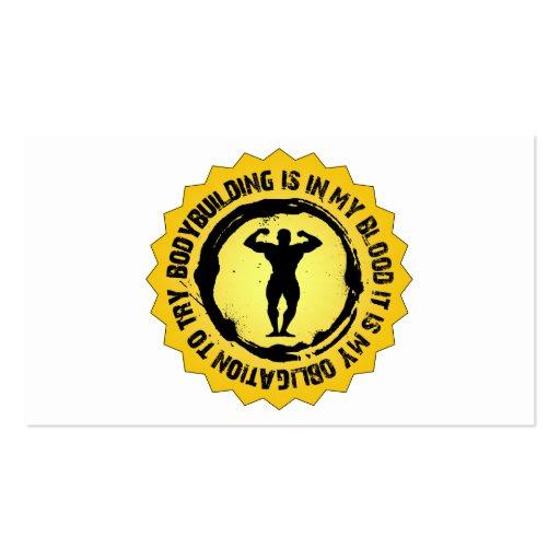 Sello fantástico del Bodybuilding Tarjeta De Negocio
