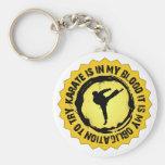 Sello fantástico del karate llaveros personalizados