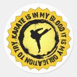 Sello fantástico del karate pegatina redonda