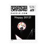 Sello feliz 2012 de la bola de cristal