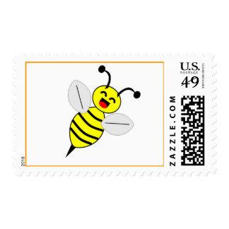 Sello feliz de la abeja