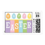 Sello feliz de la postal de los huevos de Pascua