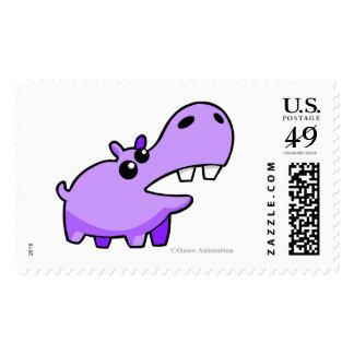 Sello feliz púrpura del hipopótamo