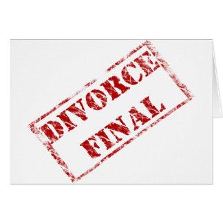 Sello final del divorcio tarjeta de felicitación