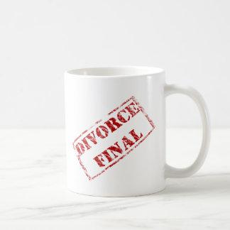 Sello final del divorcio taza de café