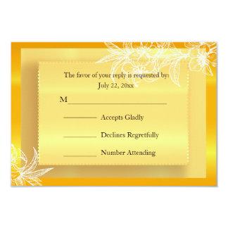 """Sello floral amarillo y blanco de la maravilla invitación 3.5"""" x 5"""""""