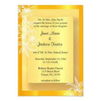 """Sello floral amarillo y blanco de la maravilla invitación 5"""" x 7"""""""