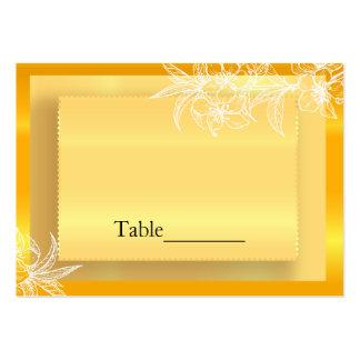 Sello floral amarillo y blanco de la maravilla tarjetas de visita grandes