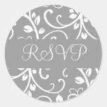 Sello floral del pegatina del sobre de la vid de R