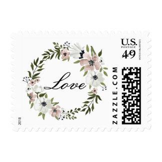 Sello floral precioso del amor