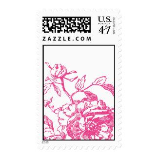 Sello floral rosado