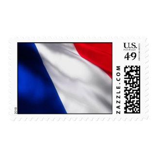 Sello francés de la bandera que agita