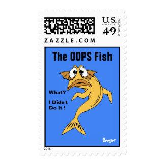 Sello franqueo - OOPS los pescados pescados ani