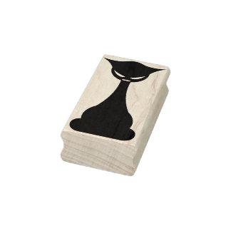 Sello gótico del arte de la silueta del gato negro