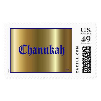 Sello grande de oro azul de Chanukah