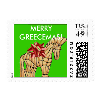 Sello griego divertido del navidad