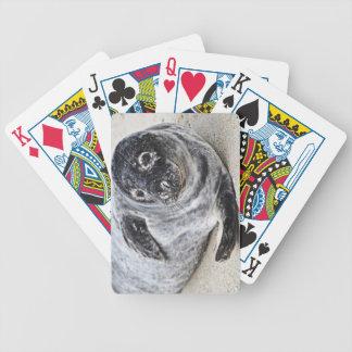 Sello gris baraja cartas de poker