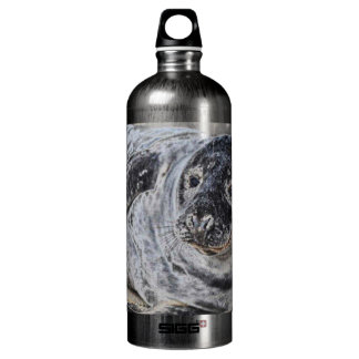 Sello gris botella de agua