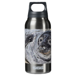 Sello gris botella isotérmica de agua