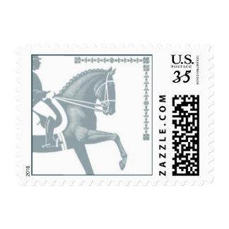 Sello gris del caballo y del jinete