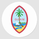 Sello GU de Guam Pegatina Redonda