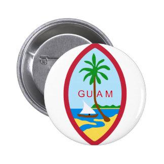 Sello GU de Guam Pin Redondo 5 Cm