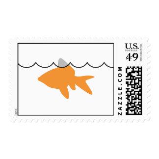 Sello horizontal del tiburón del Goldfish