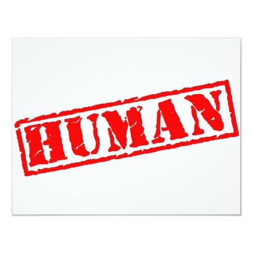 Sello humano invitación 10,8 x 13,9 cm