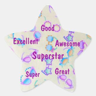 Sello impresionante del estudiante de la pegatina en forma de estrella