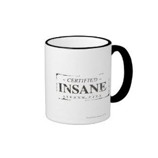 Sello insano certificado taza