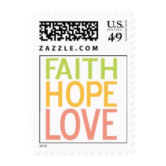 Sello inspirado del amor de la esperanza de la fe