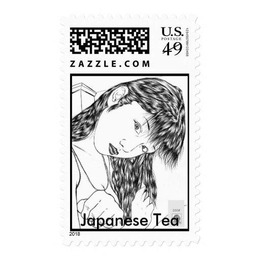 Sello japonés del té
