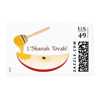 Sello judío feliz del Año Nuevo