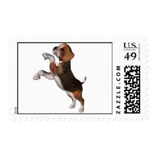 Sello juguetón del beagle