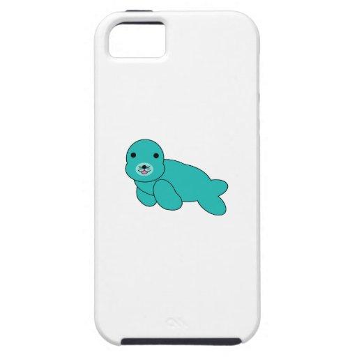 Sello lindo de la turquesa iPhone 5 carcasa