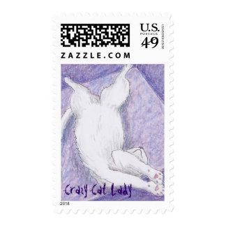 Sello loco de las púrpuras de la señora del gato
