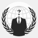 Sello/logotipo anónimos pegatina redonda