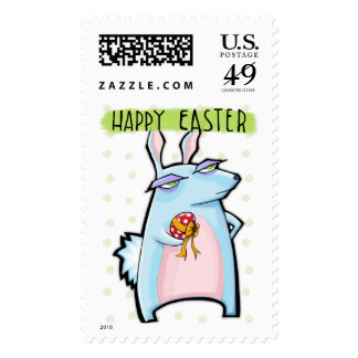 Sello malhumorado de Pascua del conejo