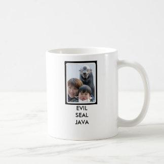 Sello malvado Java Tazas