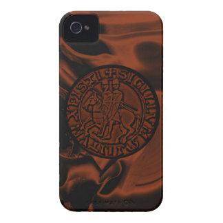 Sello medieval de los caballeros Templar iPhone 4 Case-Mate Carcasas