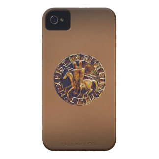 Sello medieval de los caballeros Templar iPhone 4 Case-Mate Cobertura
