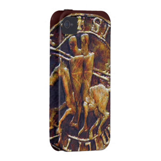Sello medieval de los caballeros Templar Vibe iPhone 4 Carcasas