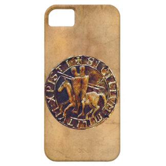 Sello medieval de los caballeros Templar iPhone 5 Carcasas