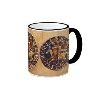 Sello medieval de los caballeros Templar Taza De Café